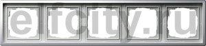 Рамка 5 постов, для горизонтального/вертикального монтажа, пластик под хром