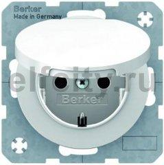 Розетка IP44 с заземляющими контактами 16 А / 250 В, с крышкой и защитой от детей, автоматические зажимы, и уплотнительной мембраной, полярная белизна