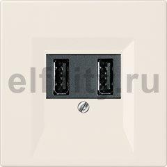 Зарядное USB устройство на два выхода , 2х750 мА / 1х1500 мА, слоновая кость