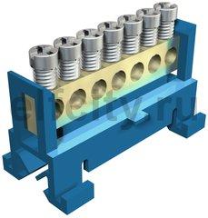 Клемма защитного провода синяя 7x16mm2