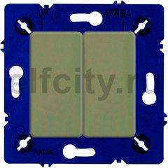 Выключатель двухклавишный, проходной (вкл/выкл с 2-х мест) 10 А / 250 В, green olive