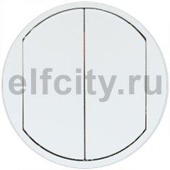 Legrand Celiane лицевая панель для двухклавишного выключателя-переключателя, цвет белый