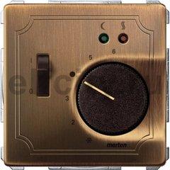 Термостат  230 В~ 8А  с выносным датчиком, для электрического подогрева пола, античная латунь