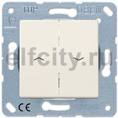 Выключатель управления жалюзи кнопочный, 10 А / 250 В, слоновая кость