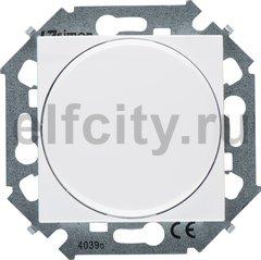 Диммер (светорегулятор) поворотно-нажимной 40-500 Вт для ламп накаливания и галогенных 220В, белый