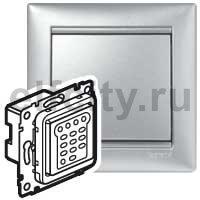 Диммер (светорегулятор) нажимной 40-600 Вт для ламп накаливания и галогенных 220В, пластик под алюминий