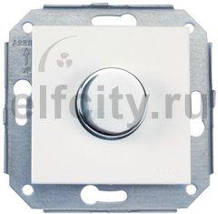 Диммер поворотный 6А / 250В для регулировки оборотов электромотора, сталь / белый