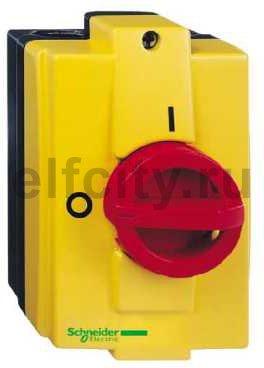 Выключатель-разъединитель главный/аварийный 3P 10А