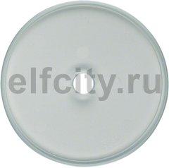 Рамка 1 пост для поворотных выключателей, ударопрочная, стекло прозрачное глянцевое