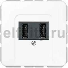 Зарядное USB устройство на два выхода , 2х750 мА / 1х1500 мА, белый