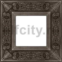 Рамка 1 пост, античное серебро