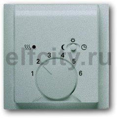 Плата центральная (накладка) для механизма терморегулятора (термостата) 1095 U, 1096 U, серия impuls, цвет серебристый металлик