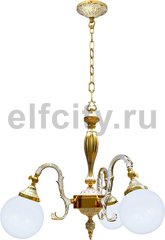 Люстра со стеклом - Milazzo II, цвет: золото, белая патина