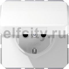 Штепсельная розетка SCHUKO 16A 250V~ с защитой от влажности; белая