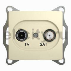 Розетка телевизионная оконечная TV/SAT , диапазон 1 DB, бежевый