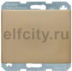 Выключатель одноклавишный, 10 А / 250 В, металл под золото