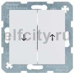 Выключатель управление жалюзи, клавишный, 10 А / 250 В, пластик белый матовый