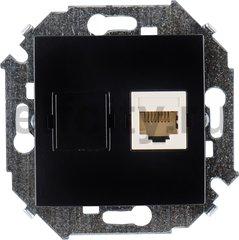 Розетка компьютерная одинарная RJ45 UTP, 5-й кат, черный