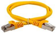 ITK Коммутационный шнур (патч-корд), кат.5Е FTP, 1м, желтый