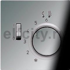 Термостат 230 В~ 10А с выносным датчиком, для электрического подогрева пола, блестящий хром