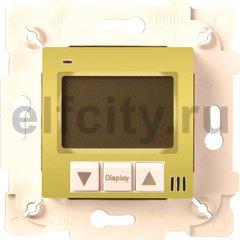 Термостат для электрического подогрева пола 230 В~ 16А , с датчиком температуры пола, светлое золото/бежевый