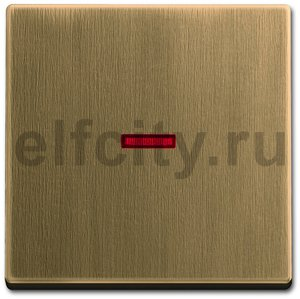 Клавиша для механизма 1-клавишного выключателя/переключателя/кнопки с красной линзой, серия Династия, Латунь античная