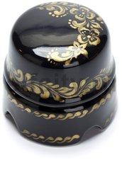 Распаечная коробка D60 черная с золотым арнаментом