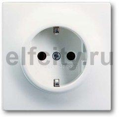 Розетка с заземляющими контактами 16 А / 250 В, с защитой от детей, автоматические зажимы, белый бархат