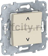 UNICA NEW выключатель для жалюзи, 2-клавишный, кнопочный, 2 х сх. 4, бежевый