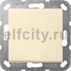 Выключатель одноклавишный, универс. (вкл/выкл с 2-х мест) 10 А / 250 В, пластик кремовый глянцевый