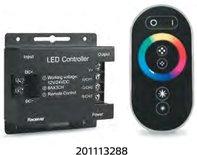 Контроллер для светодиодной ленты RGB с пультом управления, черный