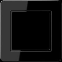 Рамка A FLOW (пластик черный глянцевый)