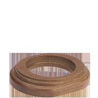 Рамка Овал наружный монтаж (дуб коричневый с золотой патиной)