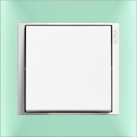 Рамка Event Opaque (пластик матово-салатовый/глянц.белый)