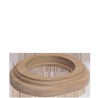Рамка Овал наружный монтаж (дуб не крашенный)