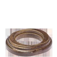 Рамка Овал наружный монтаж (венге с золотой патиной)