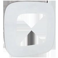 Рамка Valena Allure (белое стекло)