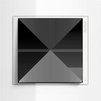 Рамка Event Opaque (пластик матово-прозрачно-белый/глянц.белый)