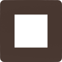 Рамка Unica Studio Color (шоколад/антрацит)