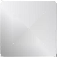 Рамка Unica Studio Metal (хром/белый)