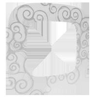 Рамка Valena Allure (нарцисс хром)