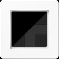 Рамка A FLOW (пластик белый глянцевый)
