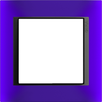 Рамка Event Opaque (пластик матово-синий/антрацит)