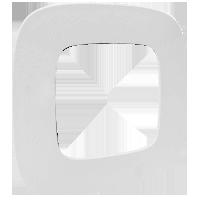 Рамка Valena Allure (тиснение белое)