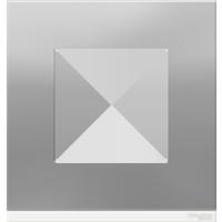 Рамка Unica Pure (алюминий матовый/белый)