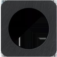 Рамка R1 (сланец/черный)
