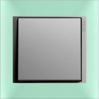 Рамка Event Opaque (пластик матово-салатовый/алюминий)