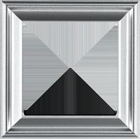 Рамка ECO Profi Deco (пластик под алюминий)