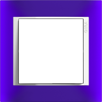 Рамка Event Opaque (пластик матово-синий/глянц.белый)