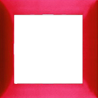 Рамка S.1 (пластик красный глянец)